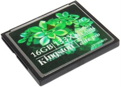 Карта памяти CompactFlash (CF), 16Gb, Kingston, 133X