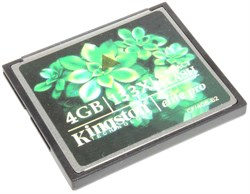 Карта памяти CompactFlash (CF), 4Gb, Kingston, 133X