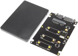 "Переходник (адаптер) для SSD mSATA - SATA 2.5"", в корпусе"