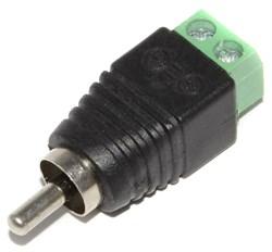 Переходник (разъём, штекер) RCA (Тюльпан) - клеммная колодка (для витой пары)