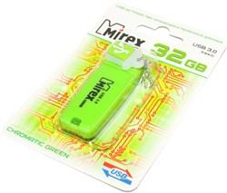 Флешка (флеш - накопитель) USB 3.0, 32 Gb, Mirex Chromatic Green