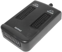 Разветвитель (переключатель) SCART - 2 x SCART, с кнопкой