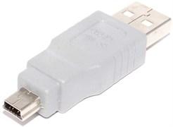 """Переходник (адаптер) USB A """"папа"""" - Mini USB (mini B 5Pin), """"папа"""""""