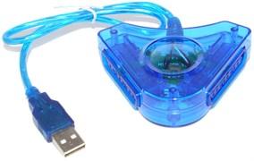 Переходник для подключения джойстика PS2 (PlayStation 2) к компьютеру (ПК) через USB