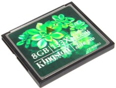 Карта памяти CompactFlash (CF), 8Gb, Kingston, 133X
