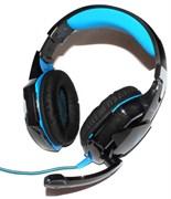Игровые наушники с микрофоном, Kotion Each G2000 Pro Gaming, синие, с подсветкой