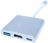 "Переходник (хаб) USB 3.1 Type C на USB 3.0 / HDMI / Type C ""мама"" для Apple MacBook"