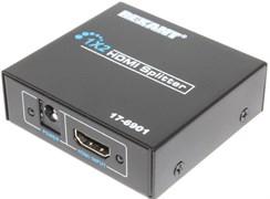 Разветвитель (делитель, сплиттер) HDMI, 1 вход 2 выхода, с питанием