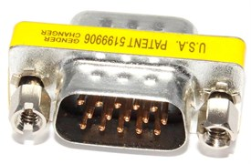 Переходник разъёма VGA - VGA (папа - папа)