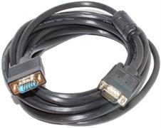Кабель VGA - VGA, 5 метров, для монитора, телевизора или проектора