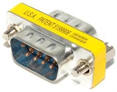 Переходник разъёма COM - COM (db9, RS232, папа - папа)