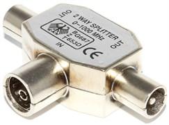 Разветвитель антенный ТВ (гнездо) - 2 x ТВ (штекер)
