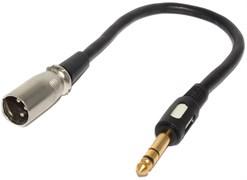 """Переходник (кабель) XLR """"папа"""" - Jack 6.3 мм """"папа"""", """"стерео"""", 0.3 м"""