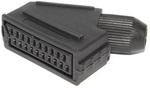 """Разъём SCART """"мама"""" (""""гнездо""""), для установки на кабель, под пайку"""