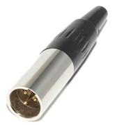 """Разъем Mini XLR, 3P (3 Pin), """"папа"""" (""""штекер""""), на кабель"""