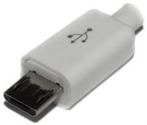 """Разъем Micro USB 2.0 (USB Micro-B), """"папа"""", под пайку, на кабель"""
